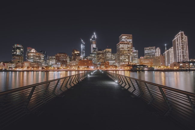 downtown sf at night